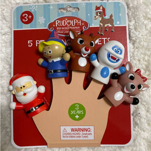 Rudolph Red-Nosed Reindeer 5 Piece Finger Puppets